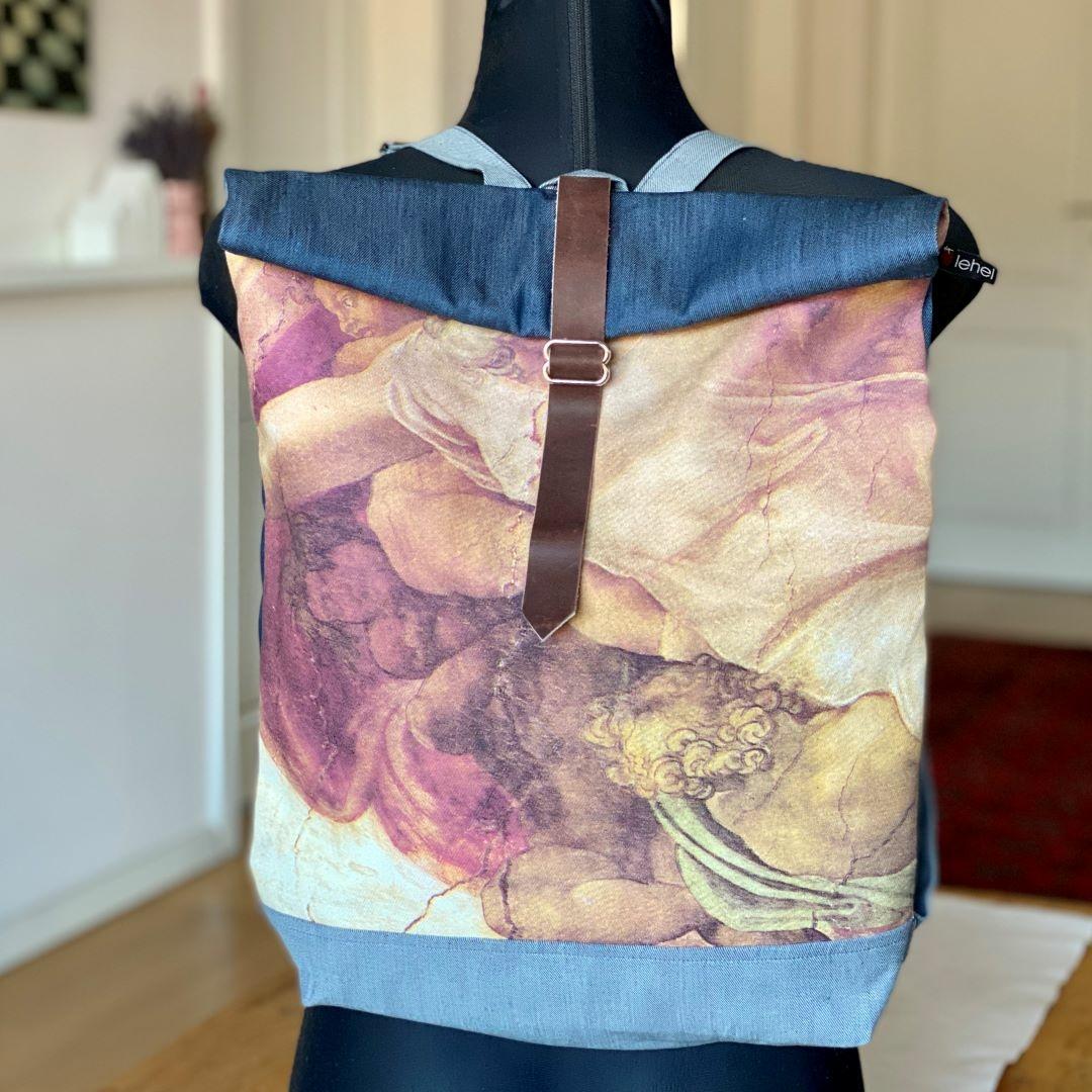 Börös hátizsák festménnyel 3