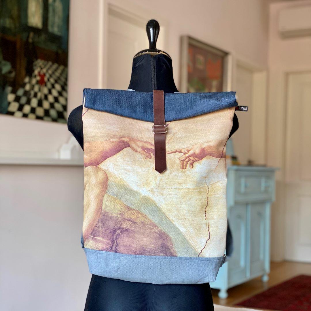 Börös hátizsák festménnyel 5