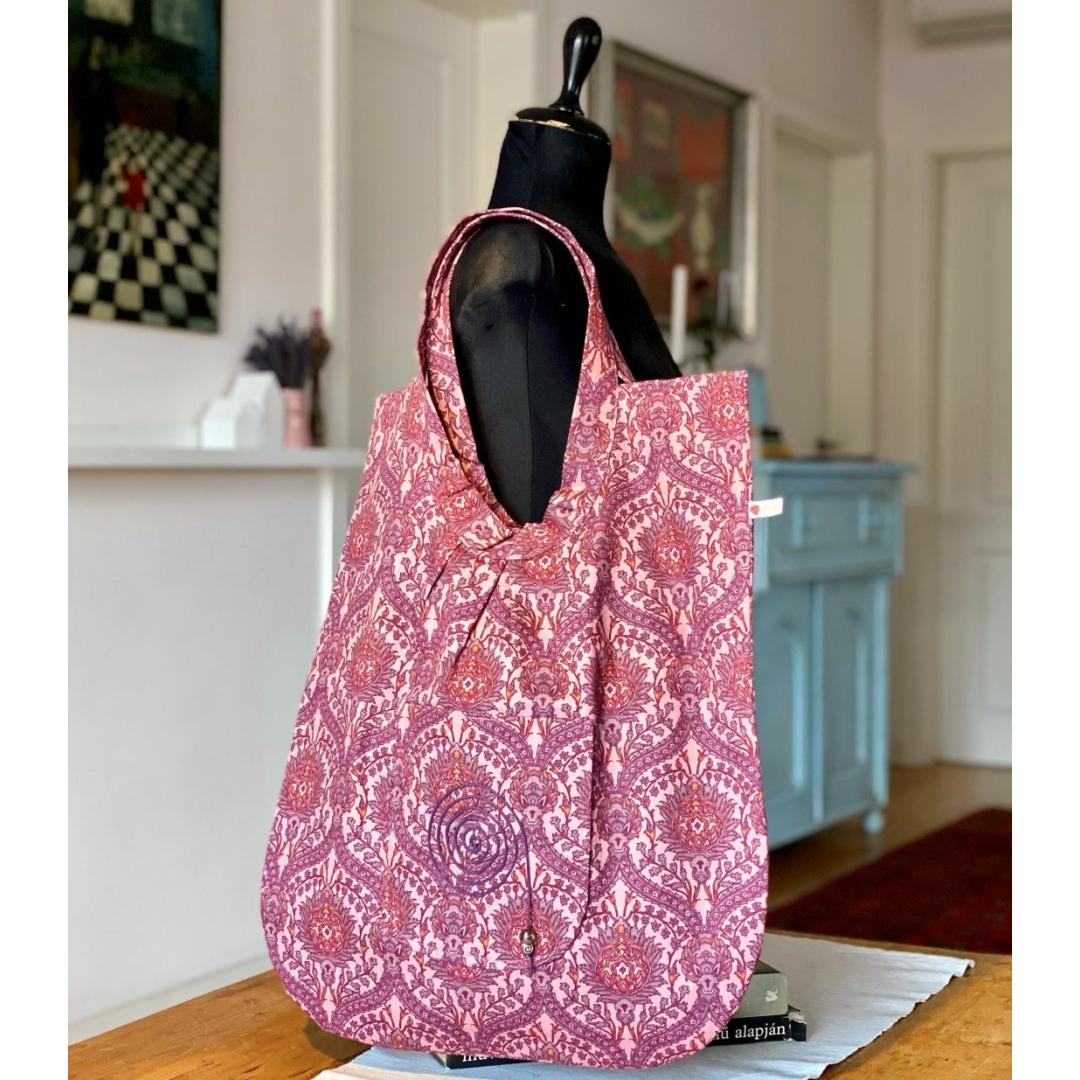 Mályva ornamentika óriás táska