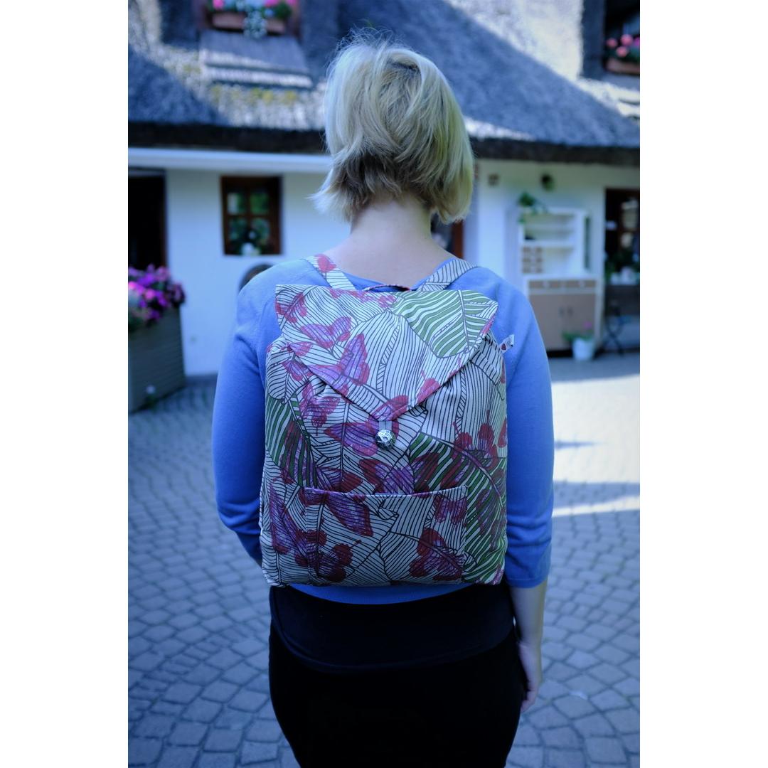 Drapp lepkés hátizsák
