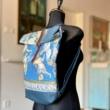Bőrös hátizsák festménnyel 2